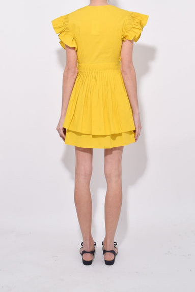 Tessa Dress in Chartreuse