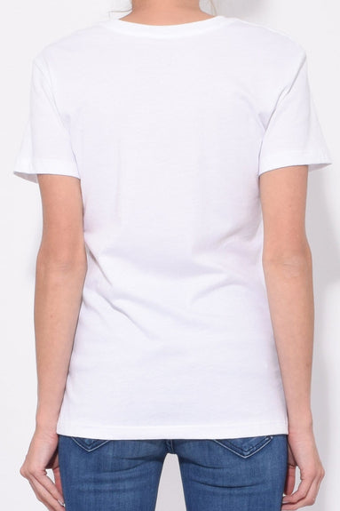 The Clintons Short Sleeve Tee in White