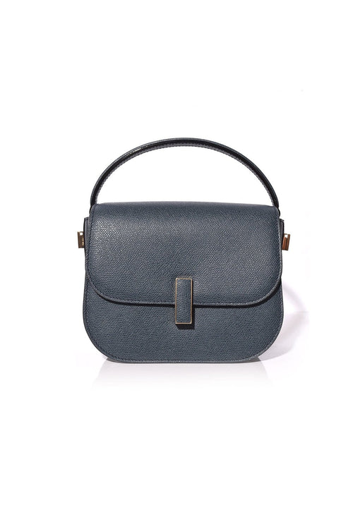 Iside Bag with Strap in Blu Petrolio