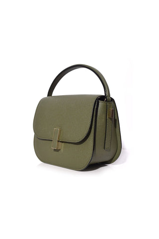 Iside Bag with Strap in Verde Militare