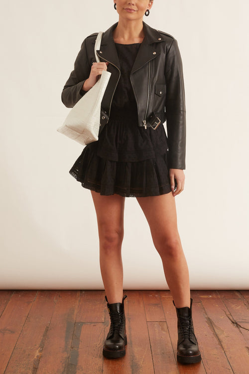 Baby Jane Smooth Leather Jacket in Black