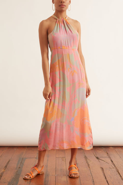 Corona Crepe Dress in Palma