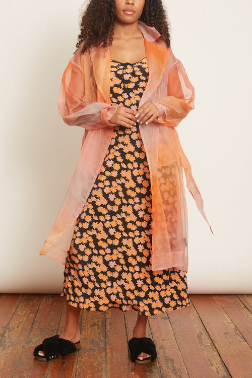 Dos Organza Trench in Sunset Ombre