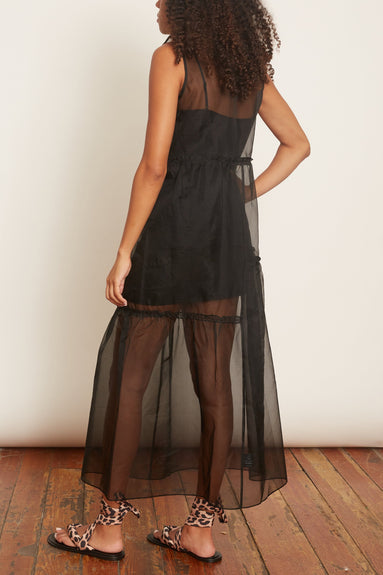 Fuego Organza Dress in Black