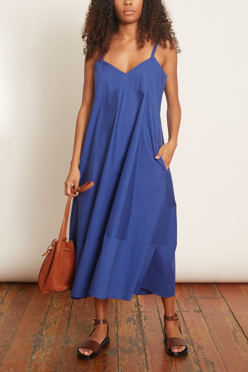 Rio Cotton Dress in Cobalt