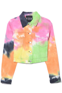 Gene Denim Jacket in Summer Tie Dye