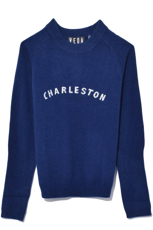 Gus Cashmere Sweater in Navy Charleston