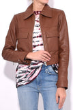 Jack Leather Jacket in Saddle