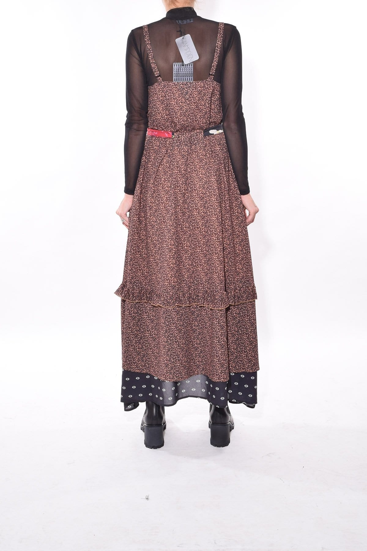 Floor Length Turtleneck Sheer Mesh General Print Fall Dress