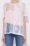 Cut and Paste Top in White