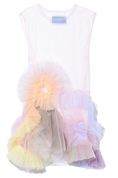 Rainbow Swirl Dress in Light Pink