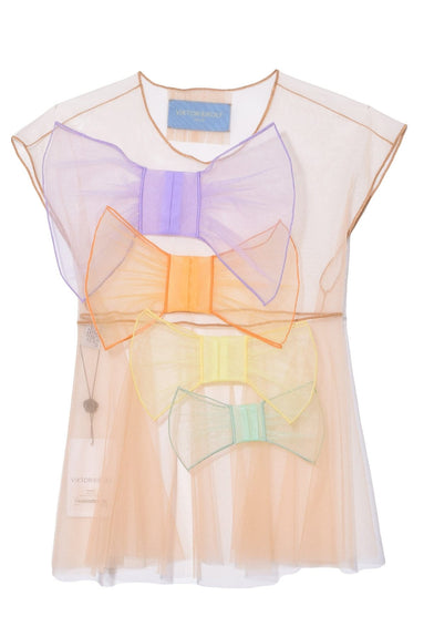 So Many Bows Top in Peach