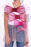 So Many Bows Tulle Top in Pink