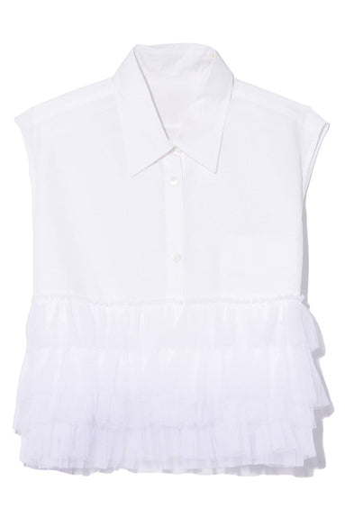 Tulle Blend III Top in White