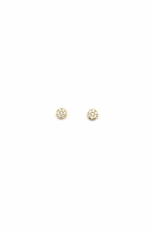 14K Gold Mini Dot Studs