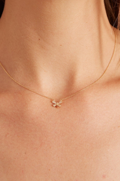 14k Gold Firefly Necklace