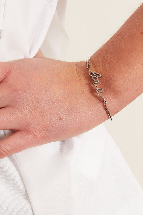 Cursive Love Wire Bangle