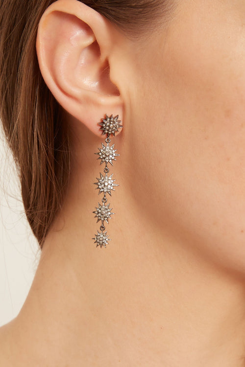 Five Star Drop Earrings