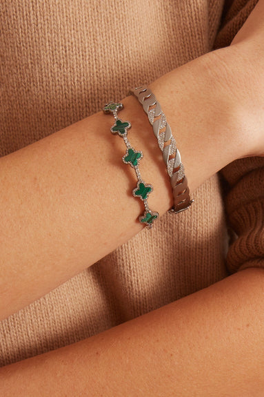 Malachite Clover Bangle