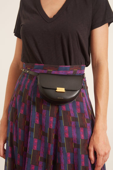 Anna Small Belt Bag in Black