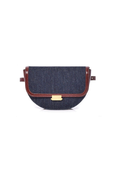 Anna Big Belt Bag in Denim Leather Mix