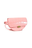 Anna Big Croco Belt Bag in Blossom