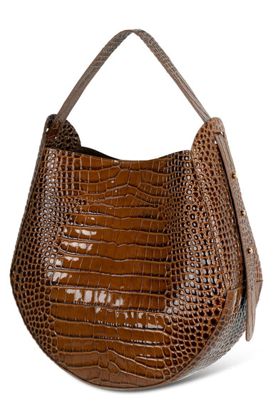 Corsa Croco Tote in Toffee
