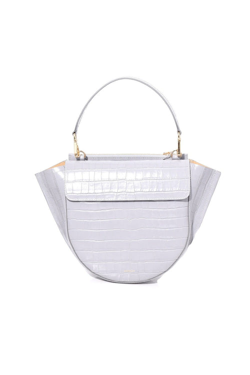 Hortensia Medium Croco Bag in Mouse