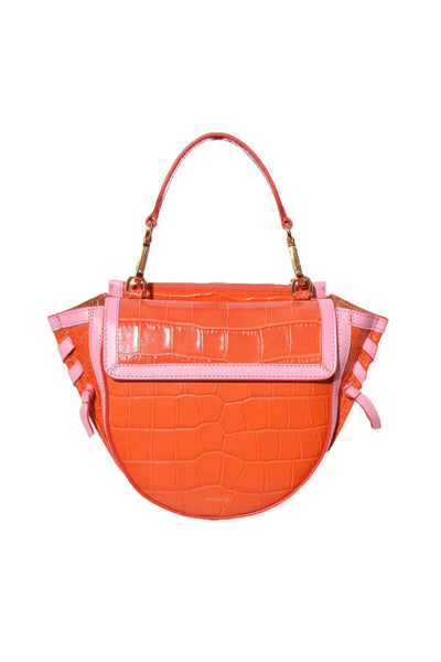 Hortensia Mini Croco Bag in Spicy/Kiss