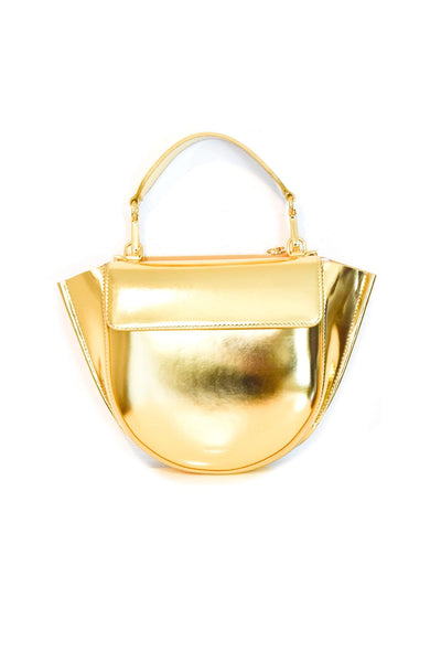 Hortensia Mini Lacquer Bag in Gold
