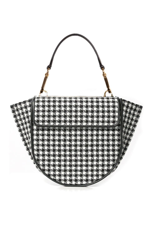 Hortensia Mini Wool Bag in Houndstooth