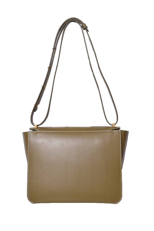 Luna Bag in Kombu/White Stitching