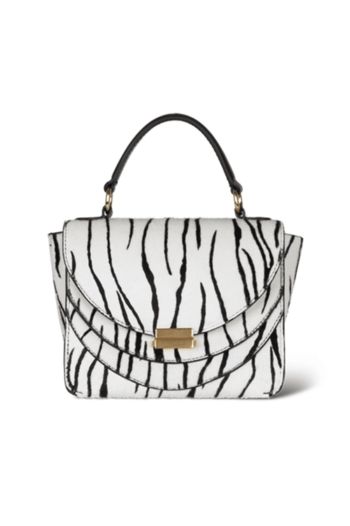 Luna Mini Bag in White Zebra