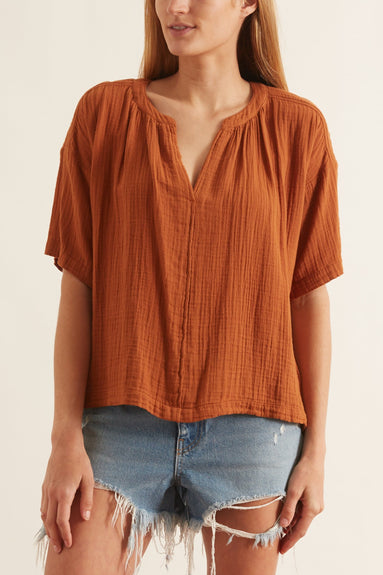 Britton Top in Dark Honey