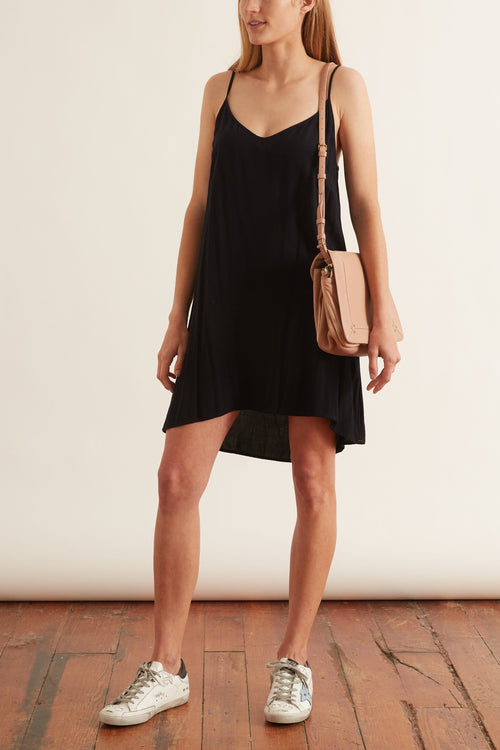 Linden Slip Dress in Black