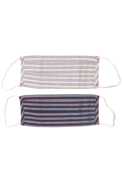 2 Men's Masks in Stripe