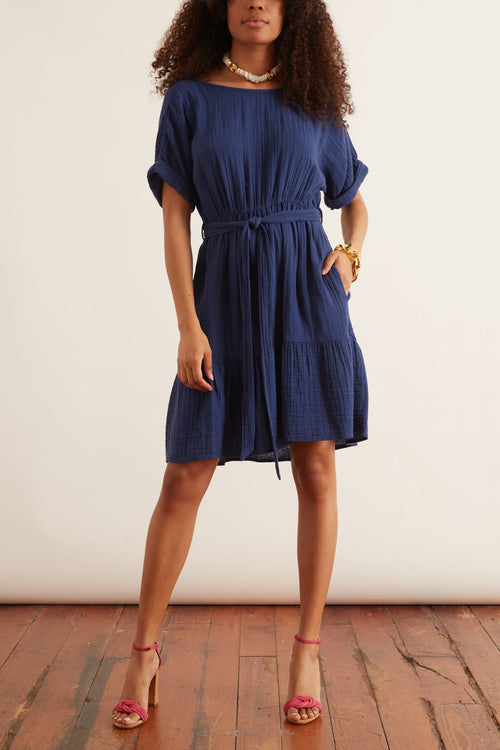 Aiden Dress in Off Shore