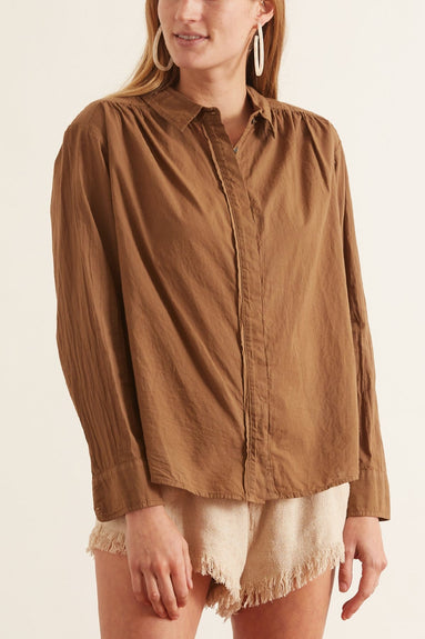 Beckett Shirt in Teak