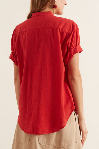 Channing Shirt in Buoy Red