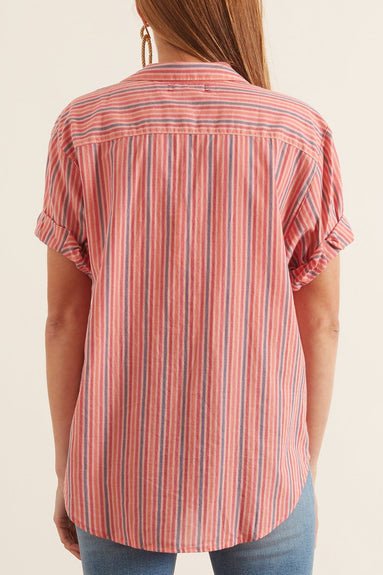 Channing Shirt in Coral Red