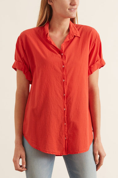 Channing Shirt in Sunset Red