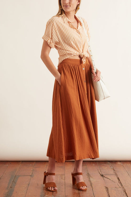 Teagan Skirt in Dark Honey