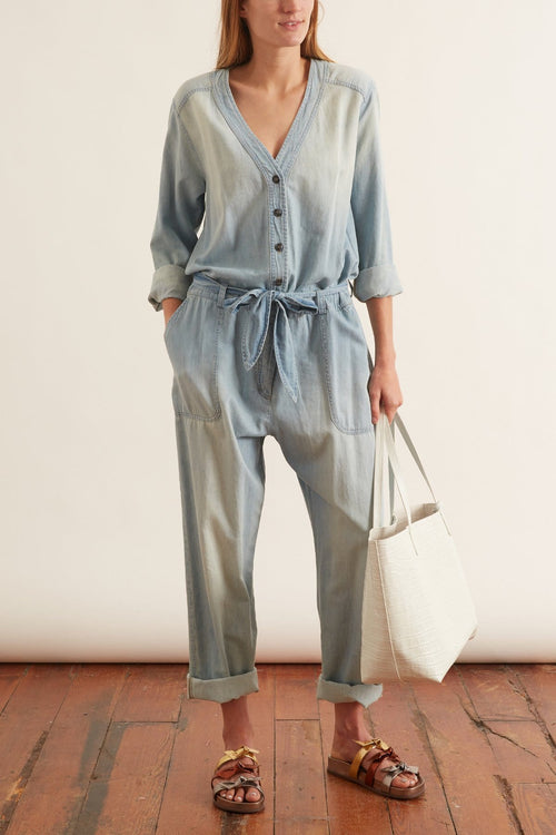 Wylder Jumpsuit in Light Rinse