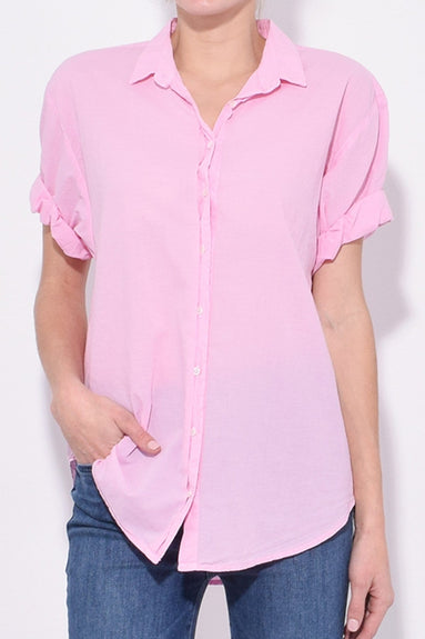Channing Shirt in Pink Amour