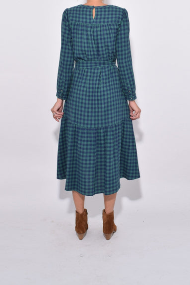 Ella Dress in Navy Pine