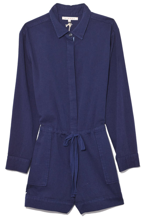 Georgie Romper in Blue Star