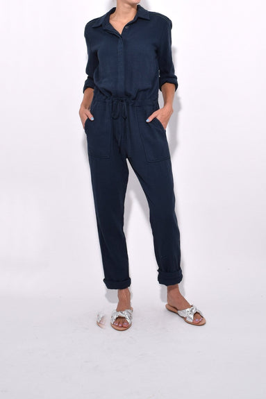 Truitt Jumpsuit in Indigo Stripe