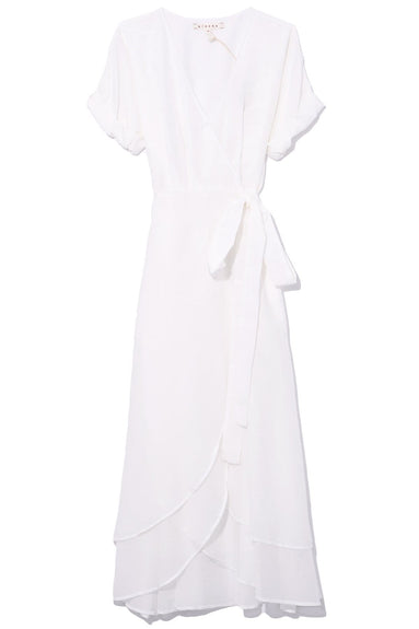 Wren Silk Cotton Dress in Modern White
