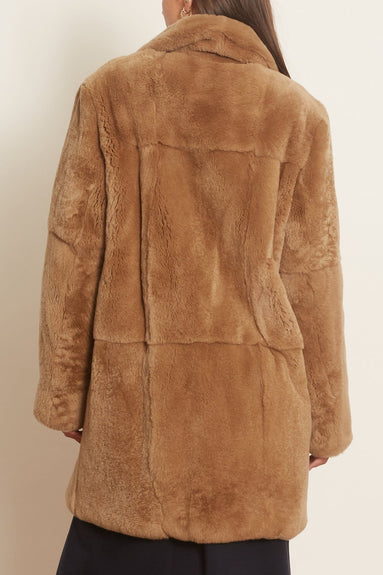 Rex Rabbit Coat in Sable