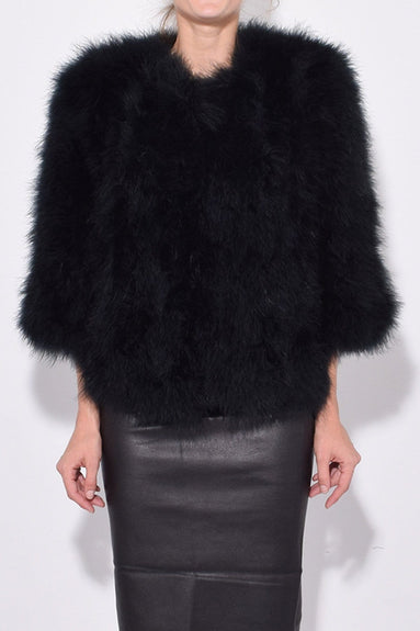 Feather Jacket in Noir